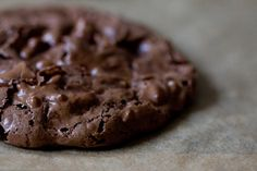 Chocolate Puddle Cookies-- good with mint/dark chocolate chips