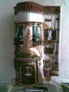 Tejas decoradas on pinterest fairy doors manualidades - Decorar tejas en relieve ...