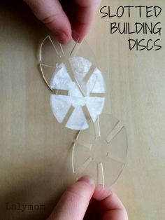 How to Make Slotted Building Discs Preschool Manipulatives Using #6 Plastic Shrinky Dinks from Lalymom preschool projects, preschool manipul