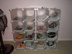 shoe cubbi, magazine storage, magazin storag