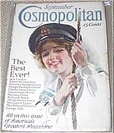 "$76 This is a complete issue of Cosmopolitan magazine for 9/1913. Cover by Harrison Fisher ""The Yachting Girl"", ""All's Well"""