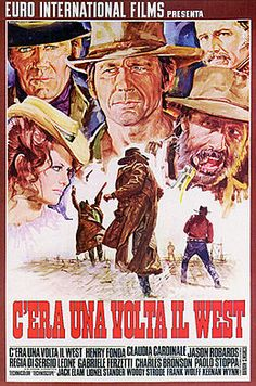 Once Upon a Time in the West (Italian: C'era una volta il West) is a 1968 Italian epic spaghetti western film directed by Sergio Leone for Paramount Pictures. It stars Henry Fonda cast against type as the villain, Charles Bronson as his nemesis, Jason Robards as a bandit, and Claudia Cardinale as a newly widowed homesteader with a past as a prostitute. The screenplay was written by Leone and Sergio Donati, from a story devised by Leone, Bernardo Bertolucci, and Dario Argento.