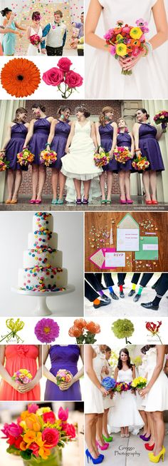 Confetti Wedding Inspiration - Wedding Trend for 2014 - Wedding Flower Trends #WeddingFlowers #WeddingTrends #2014WeddingTrends