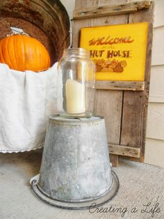 Creating A Life: Simple Fall Front Porch