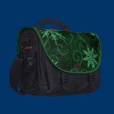 Snowflake Swirls 2 Laptop Commuter Bag