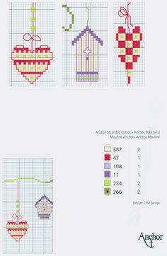 Hearts & Birdhouses free cross stitch pattern from www.coatscrafts.pl