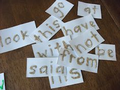 Multi-sensory sight words - love this.