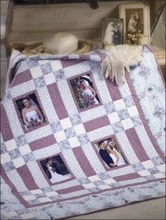 beautiful wedding quilt - but any special event would work too.