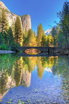 Autumn Reflection Merced River in Yosemite