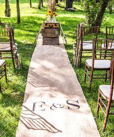 Burlap Aisle Runner with Equestrian Monogram - Burlap Wedding Decorations, $83.98 (http://event.thingsfestive.com/burlap-aisle-runner-with-equestrian-monogram-burlap-wedding-decorations/) #burlapaislerunner #gardenwedding