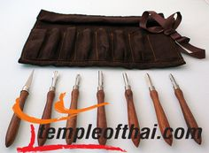 This Professional Soap Carving Tool Set, is handcrafted in Thailand and especially designed for the fine art of soap carving by a highly experienced carver. Available at TempleofThai.com