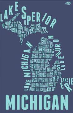 Michigan print