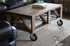 DIY Triple Truss Coffee Table