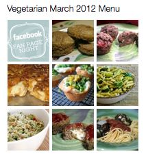 Once a Month Cooking -Vegetarian Menu