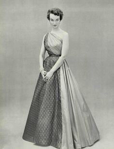 L'officiel de la Mode 1953 robe du soir Madame Gres