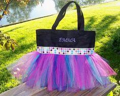 cute idea for a little girls dance bag
