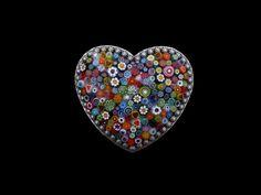 mosaic heart, heart belt, mosaics, belt buckles, heart buckl, glass, murano millefiori, belts, mosaic art