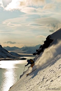 Other favourites: Skiing under the midnight sun in Norway galleries, mountains, downhil, norway winter, mountain climb, snow, films, alex o'loughlin, skiing photography