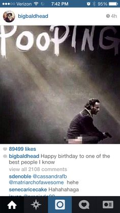 Norman sending birthday wishes to Andy via Instagram.
