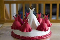 Bridal party dress cake