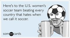 It's soccer.
