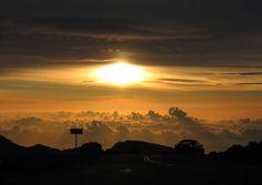 """The sun finally shows above Haleakala, Maui."" (From: 30 Beautiful Photos of the Hawaiian Islands)"