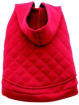 Dogit Hooded Sweater Dog Coat, Large, Red