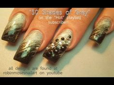 Fifty Shades of Grey Nail Art - Juicy Rockstar Ombre