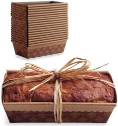 so much prettier to bake and give gifts in these paper loaf pans than the foil ones.