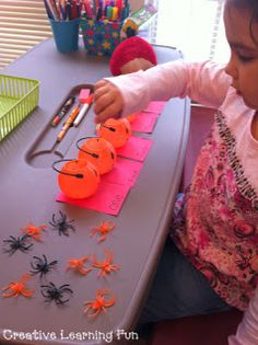 Pumpkin / Spider Number Sight Word / Counting Activity
