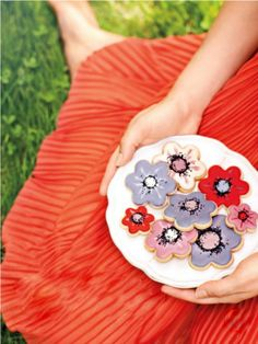 Flower cookies #spring #flower #cookies #food