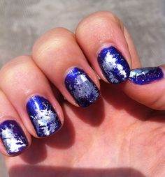 galaxy nails {too cool}