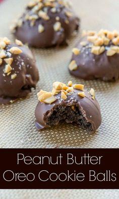 Peanut Butter Oreo Cookie Balls   @Kate Mazur Mazur Mazur Mazur Uhl Dean   i heart eating   #oreocookieballs