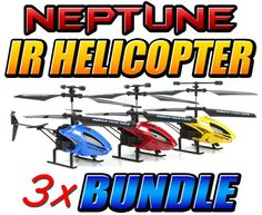 Neptune 2.5CH IR Helicopter 3 Pack Bundle