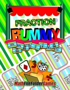 Fraction Rummy {Math Game} http://www.teacherspayteachers.com/Product/Fraction-Rummy-Math-Game-1170740