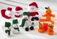 Holiday Bootie Buddies Set 1 Crochet Pattern