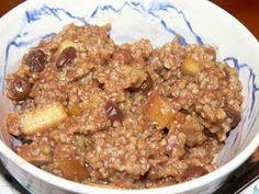 Crock Pot Apple Pie Oatmeal with steel cut oats