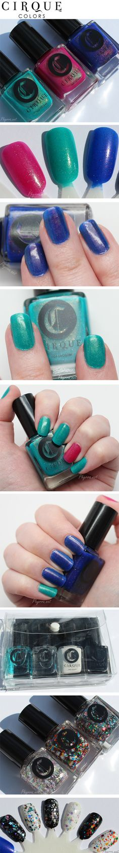 Cirque Kontiki and Back to Basics Collections. Such amazing polish!