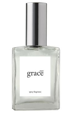 philosophy 'pure grace' spray fragrance  Smells clean, I'm addicted!
