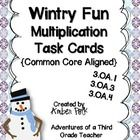 24 Winter Themed Multiplication (and Division) Task Cards $