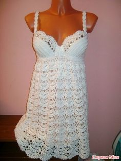 Crochet summer dress with diagram