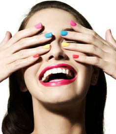 Colorblock nails