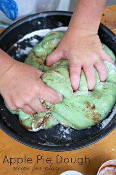 Apple Pie Dough - a simple to make sensory dough recipe, perfect for pretend baking and playing