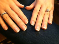 My sister's gel french manicure.