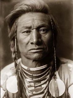 "Hurt & Sorrow Fill His Eye's... 1908 ""Chief Child"" / American  Crow Indian"
