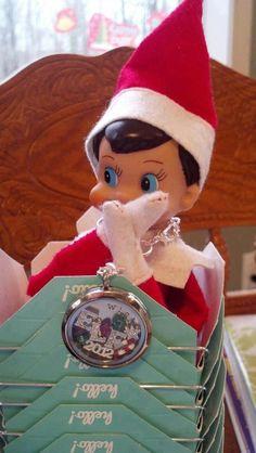 Christmas and Elf on the Shelf inspired Origami Owl Living Locket!