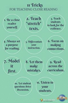 11 Tricks for Teaching Close Reading - Click to Read the Full Article