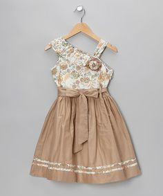 Take a look at this Brown Erna Asymmetrical Dress - Toddler & Girls by Periwinkle on #zulily today!