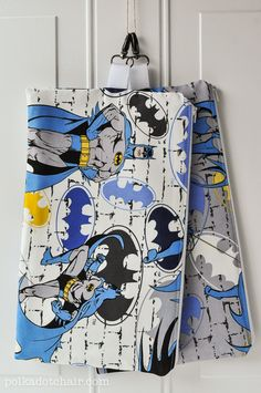 Something to Sew for a Boy a Batman Zip Pouch