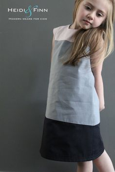 Colorblock dress pattern and tutorial 6-12y EASY SEW fully lined jumper tunic: fun all the way